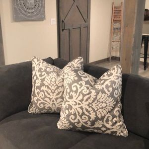 Throw Pillows (2) with feather inserts. Brand new!